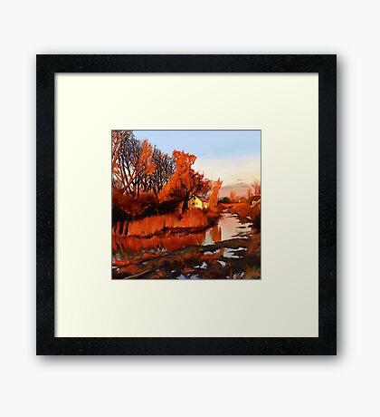 Finn Slough in Autumn Framed Print