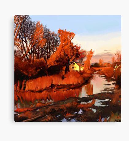 Finn Slough in Autumn Canvas Print