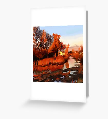 Finn Slough in Autumn Greeting Card