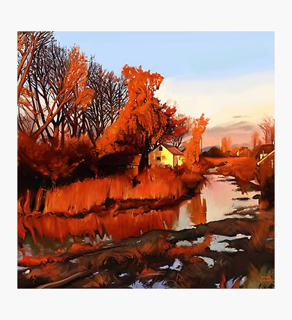 Finn Slough in Autumn Photographic Print