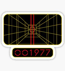 STAY ON TARGET 1977 TARGETING COMPUTER Sticker