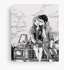 Drive in movies Canvas Print