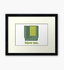 Blow me (NES cartridge) Framed Print