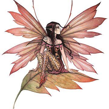 Autumn Drifting Fairy Fantasy Art by robmolily