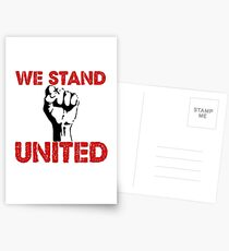 "Political Anti Trump ""We Stand United"" Postcards"