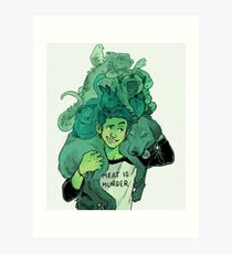 Beast Boy and Pets Art Print