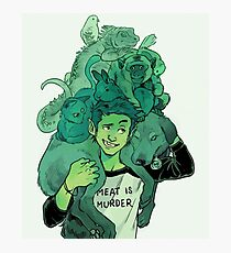 Beast Boy and Pets Photographic Print
