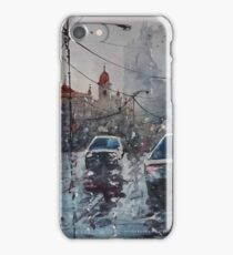 Streetscape watercolor iPhone Case/Skin