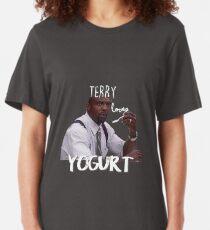 Terry LOVES yogurt!  Slim Fit T-Shirt