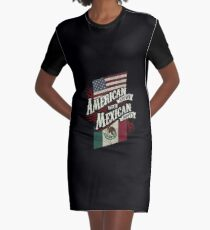 American Grown with Mexican Roots copy Graphic T-Shirt Dress