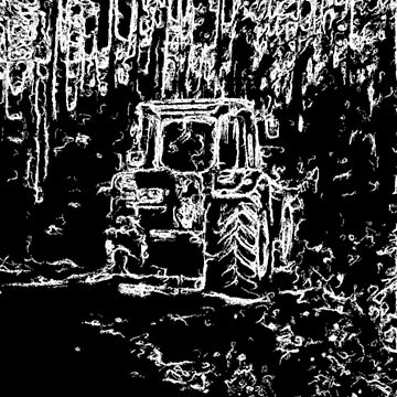 drawing effect  tractor and nature by ZierNor