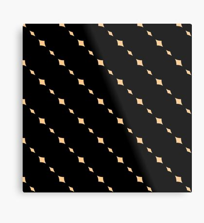 Black with Peach Stripes ( Diagonal)  Metal Print