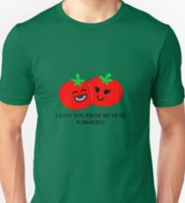 I love you from my head tomatoes! - Colored version Unisex T-Shirt