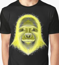 Wacky Yellow Energy Gorilla Graphic T-Shirt