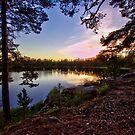 Prostsjön sunset by João Figueiredo