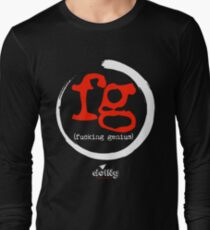 fucking genius black Long Sleeve T-Shirt