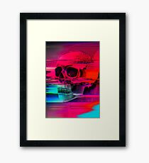 Mortality Glitch Framed Print