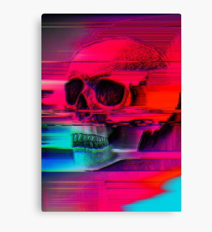 Mortality Glitch Canvas Print