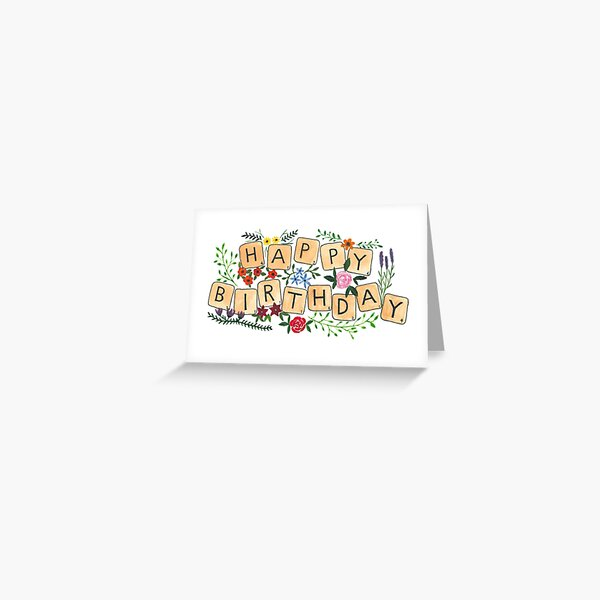 Scrabble Happy Birthday Greeting Card