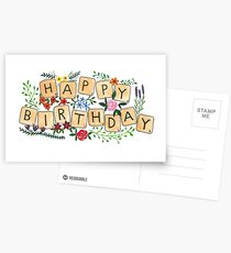 Scrabble Happy Birthday Postcards