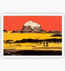Abstract Bass Rock in Orange  Sticker