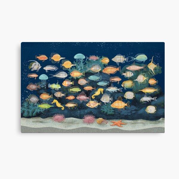 Underwater Fish Aquarium Reef Art Canvas Print