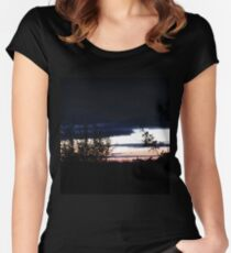 Sligo Sunset, Donegal, Ireland Women's Fitted Scoop T-Shirt