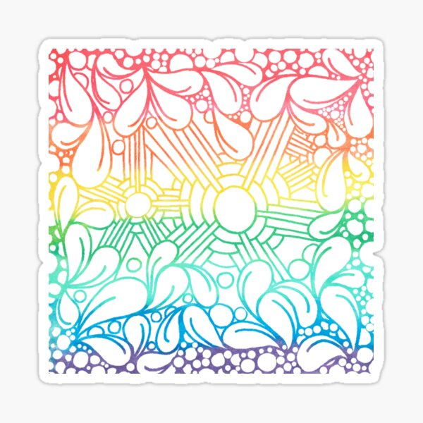 Over The Tangled Rainbow Sticker