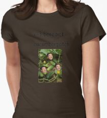 benedict cucumberpatch Womens Fitted T-Shirt