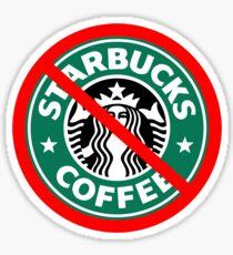 Boycott Starbucks Sticker