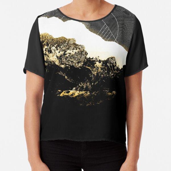 Golden Mountain  Chiffon Top