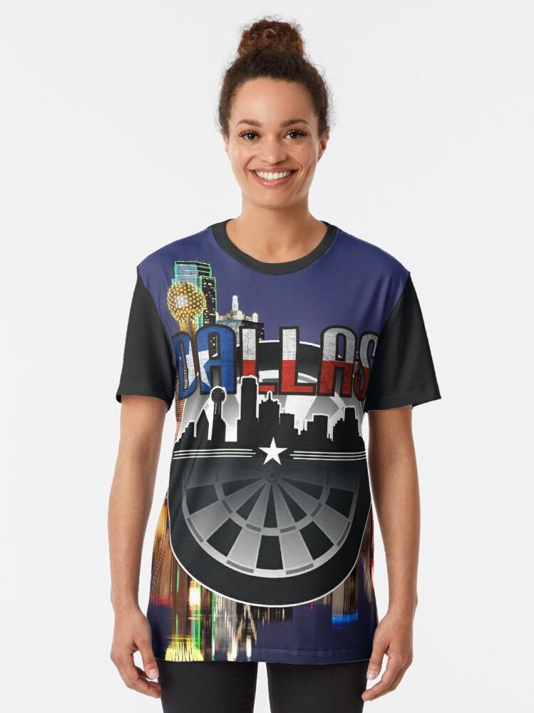 Alternate view of Darts Dallas Graphic T-Shirt