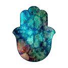 «Mano brillante abstracto de Hamsa» de maryedenoa