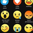 I Love Idaho United States American Emoji Emoticon Funny Graphic Tee Shirt by DesIndie