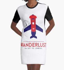 Royal Travel Graphic T-Shirt Dress