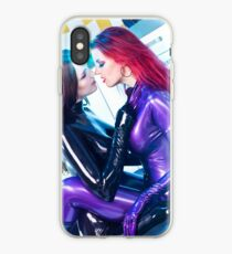 Two Latex Catsuits girls 2 iPhone Case