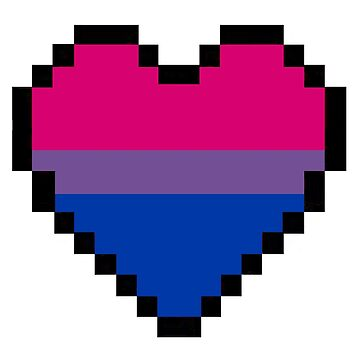 Bisexual pride heart by thekaym