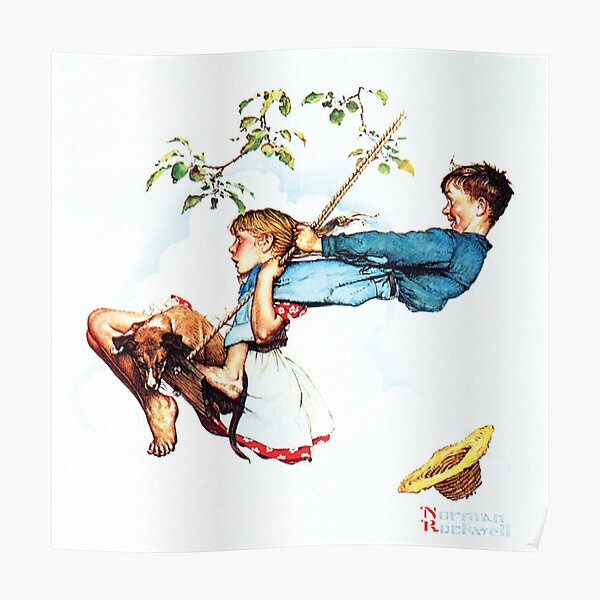 Norman Rockwell Swing Peinture Poster