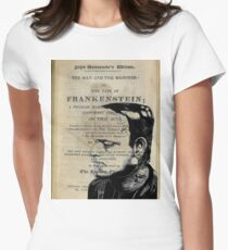 Frankenstein Book Page Illustration  T-Shirt
