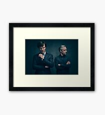Sherlock and John - Season 4 Framed Print