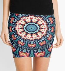 Red and Blue Kaleidoscope Mini Skirt