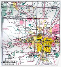 Denver Colorado Map Poster