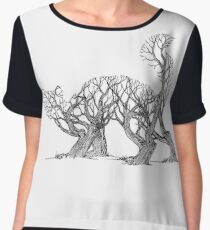 Slinking Trees Chiffon Top