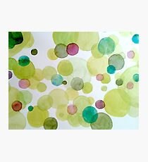 uprising green - or floating dots Photographic Print