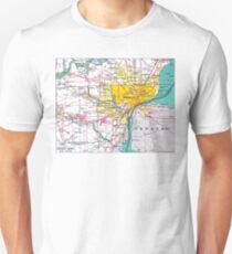Detroit Michigan Map Unisex T-Shirt