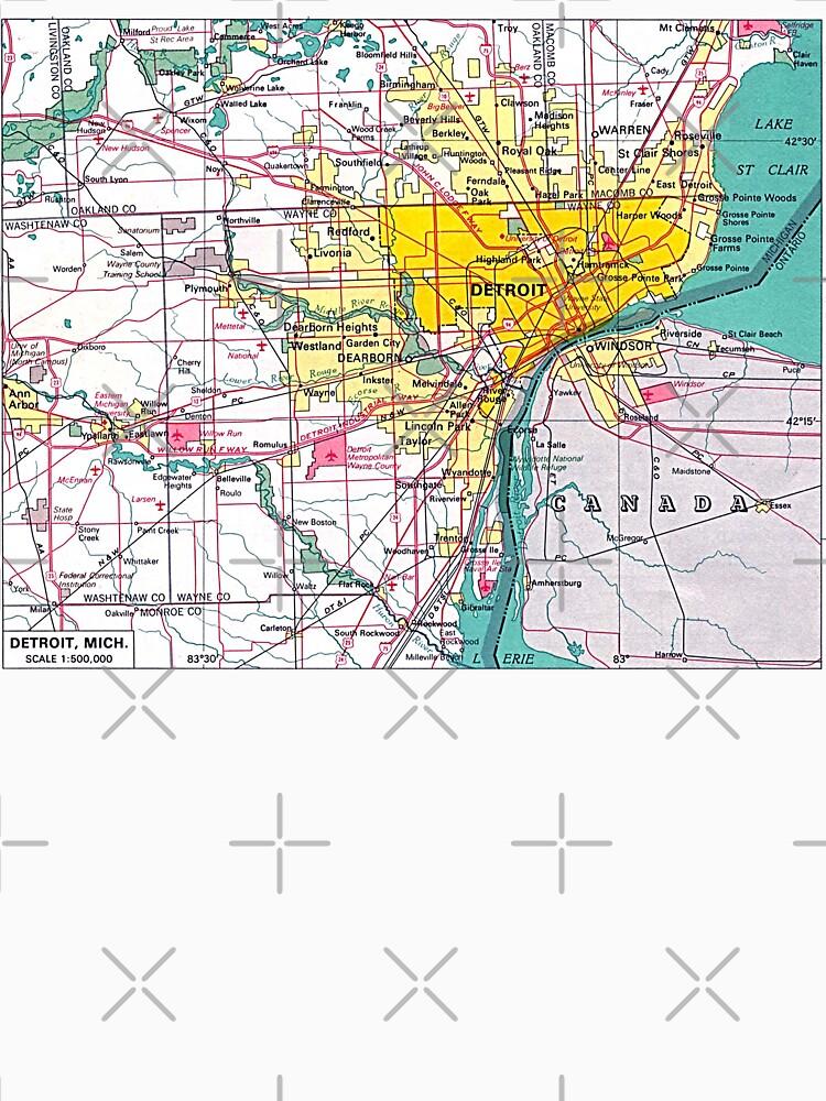 Detroit Michigan Map\