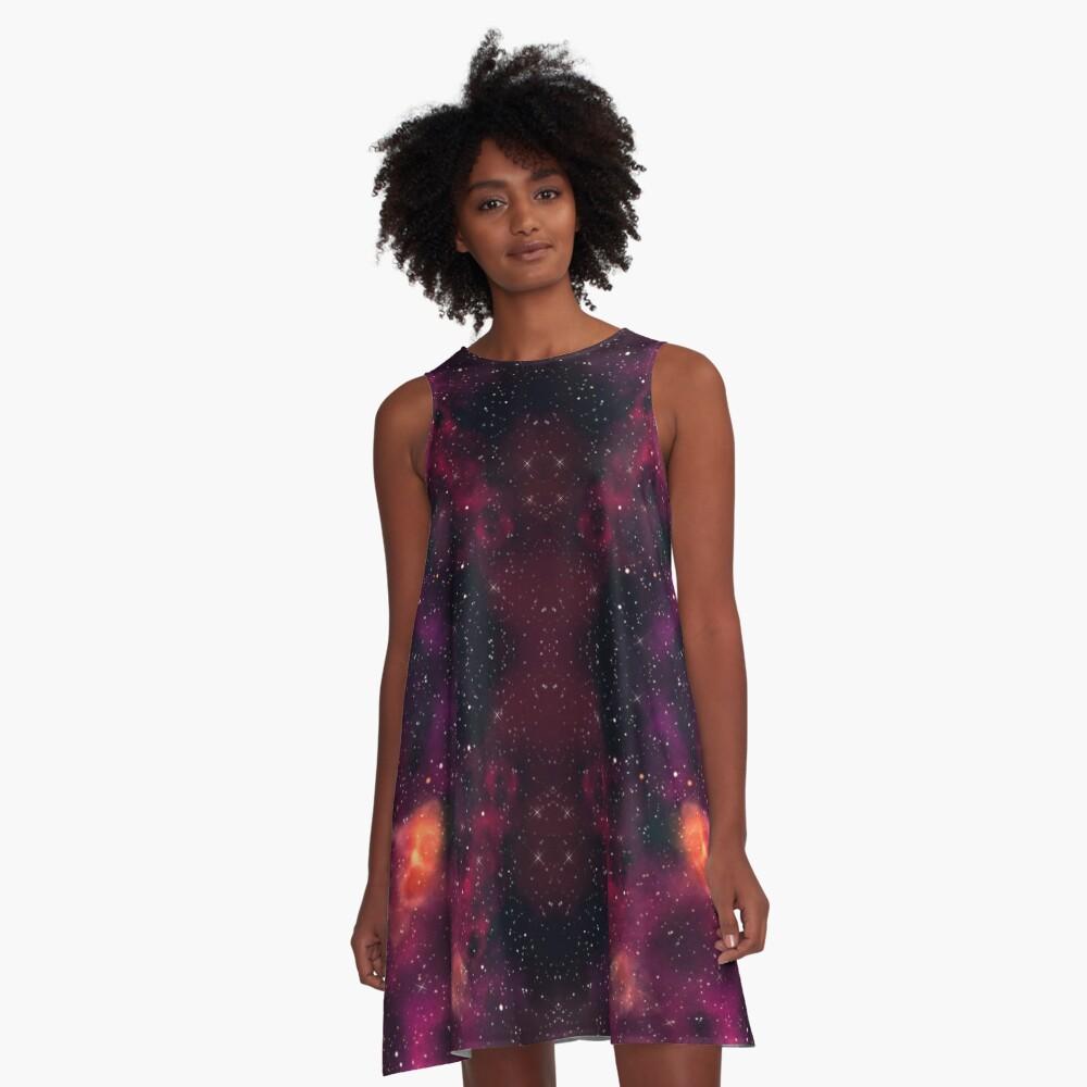 Blood Orchid Galaxy A-Line Dress