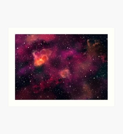 Blood Orchid Galaxy Art Print