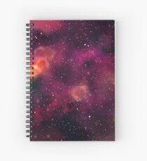 Blood Orchid Galaxy Spiral Notebook