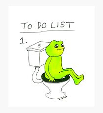 To Do List 1. Photographic Print